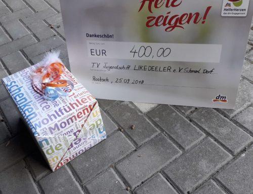 """Spendenaktion vom dm Drogeriemakt """"Herz zeigen"""""""