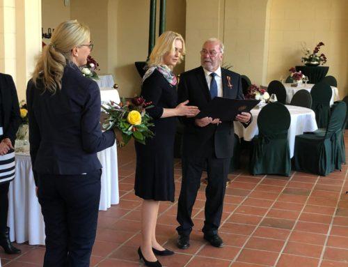 Auszeichnung unseres Vereinsvorsitzenden mit dem Verdienstorden der Bundesrepublik Deutschland